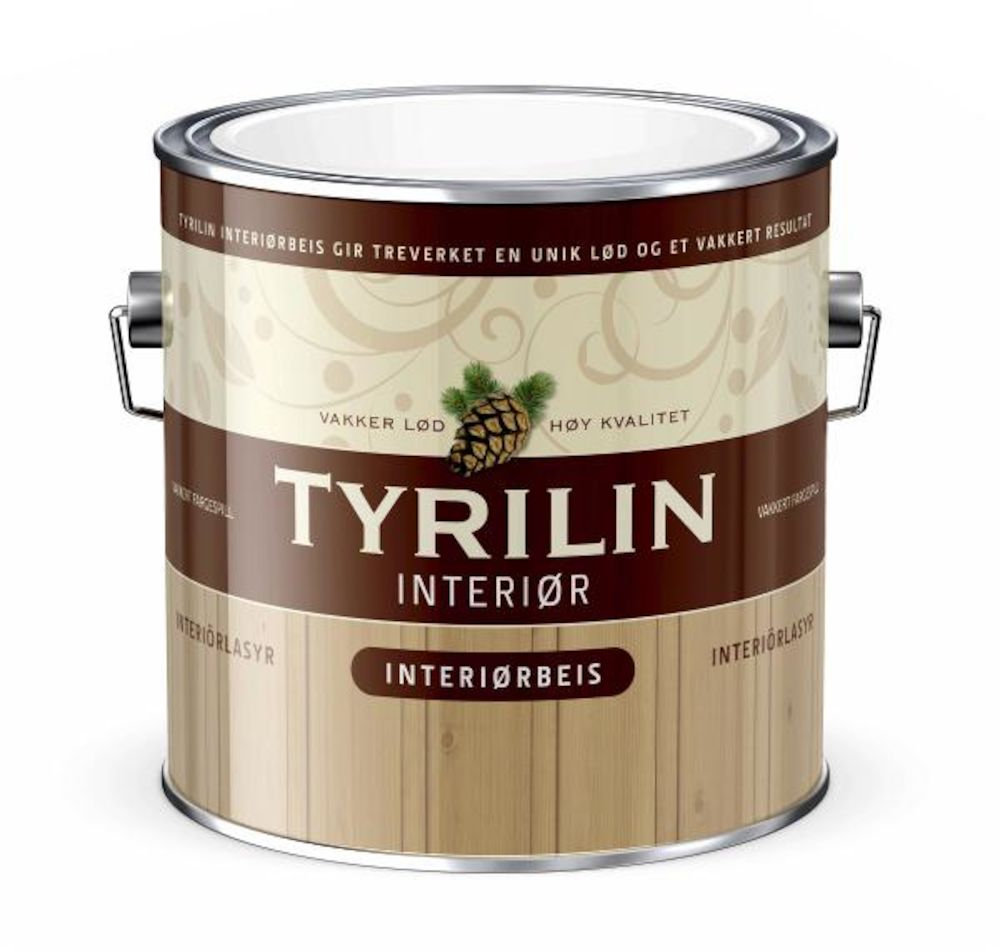 Tyrilin Interiørbeis Gul - base 2,7 l