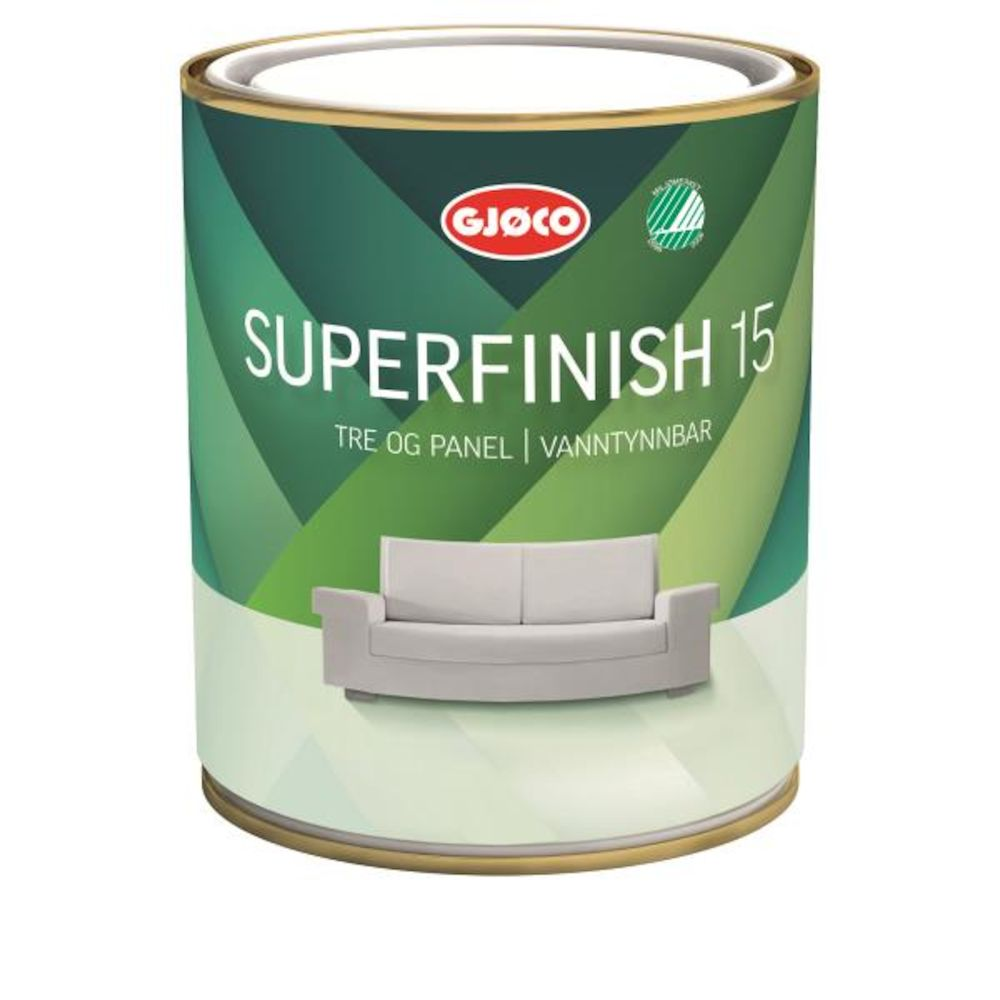 Gjøco Superfinish 15 Hvit 0,68 l